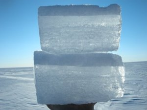 Ice layer at station 2-20
